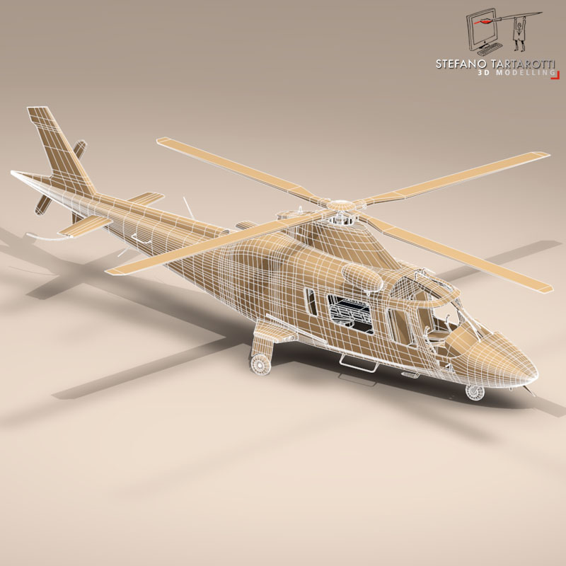 aw109 air ambulance 3d model 3ds dxf fbx c4d dae obj 153358