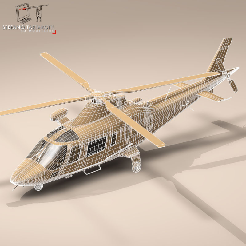 aw109 air ambulance 3d model 3ds dxf fbx c4d dae obj 153360