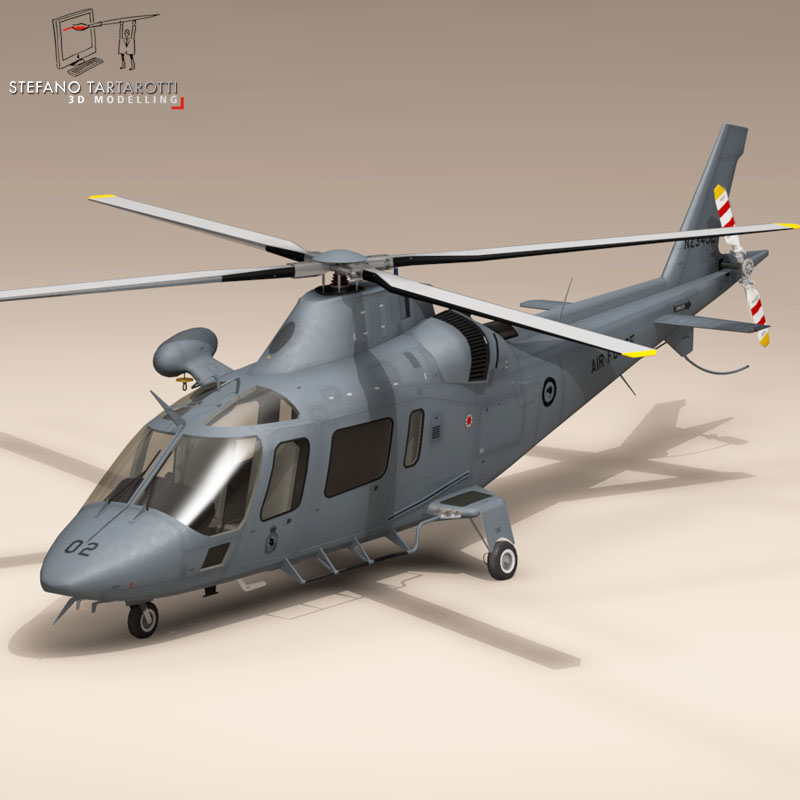 aw109luh new zealand 3d model 3ds dxf fbx c4d dage obj 153361