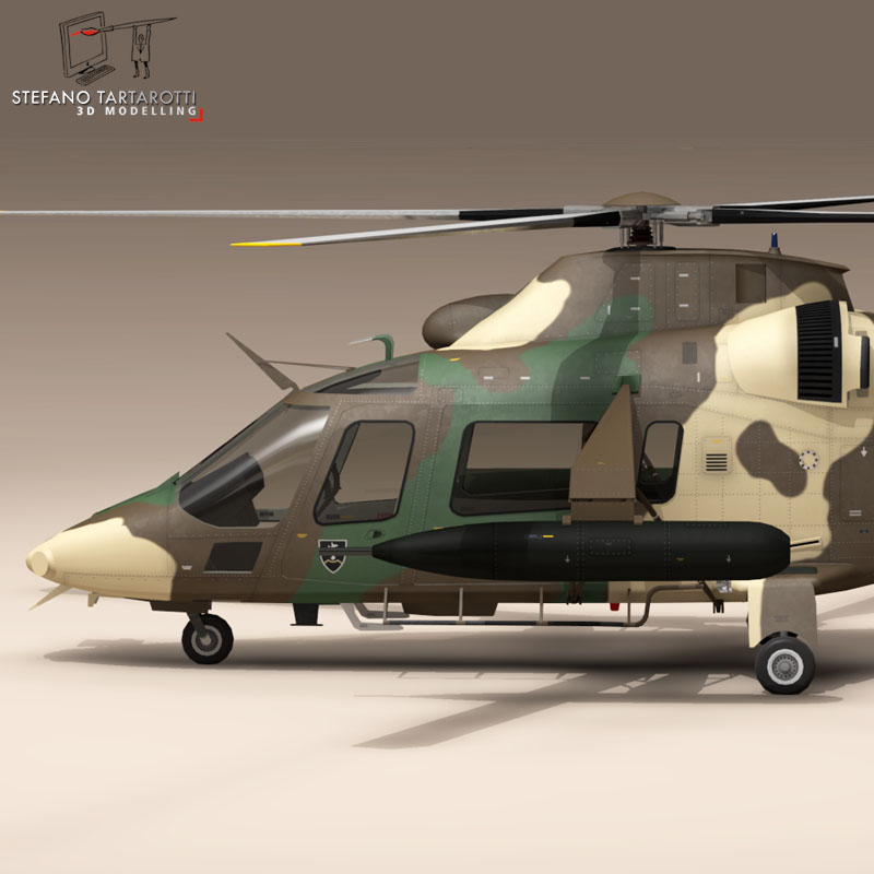 aw109luh south africa 3d model 3ds dxf fbx c4d dae obj 153386