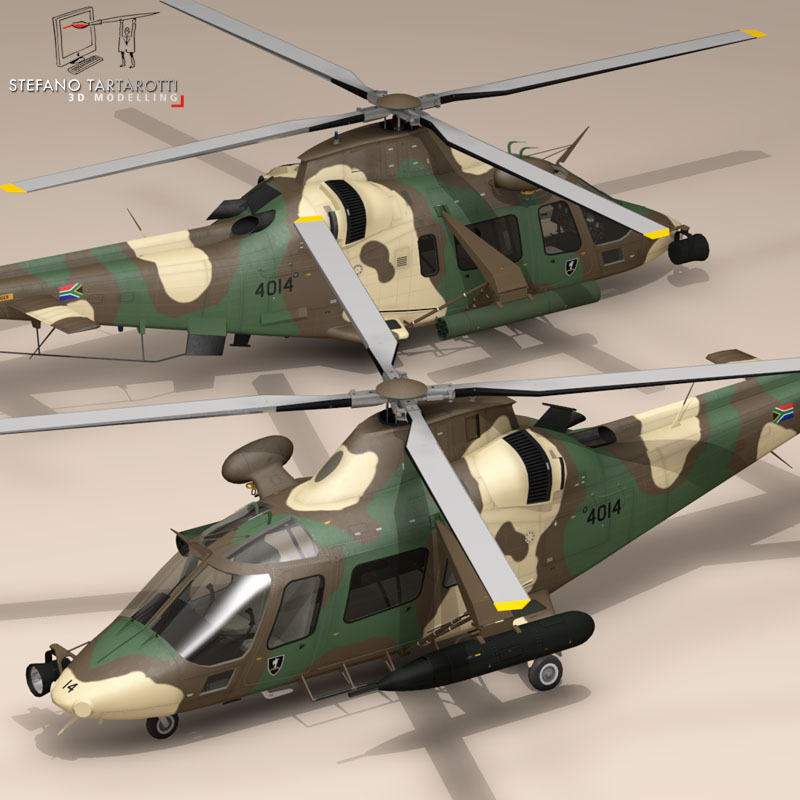 aw109luh south africa 3d model 3ds dxf fbx c4d dae obj 153387