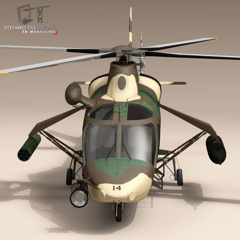 aw109luh south africa 3d model 3ds dxf fbx c4d dae obj 153388