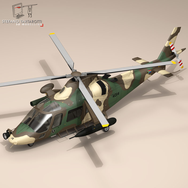 aw109luh south africa 3d model 3ds dxf fbx c4d dae obj 153389