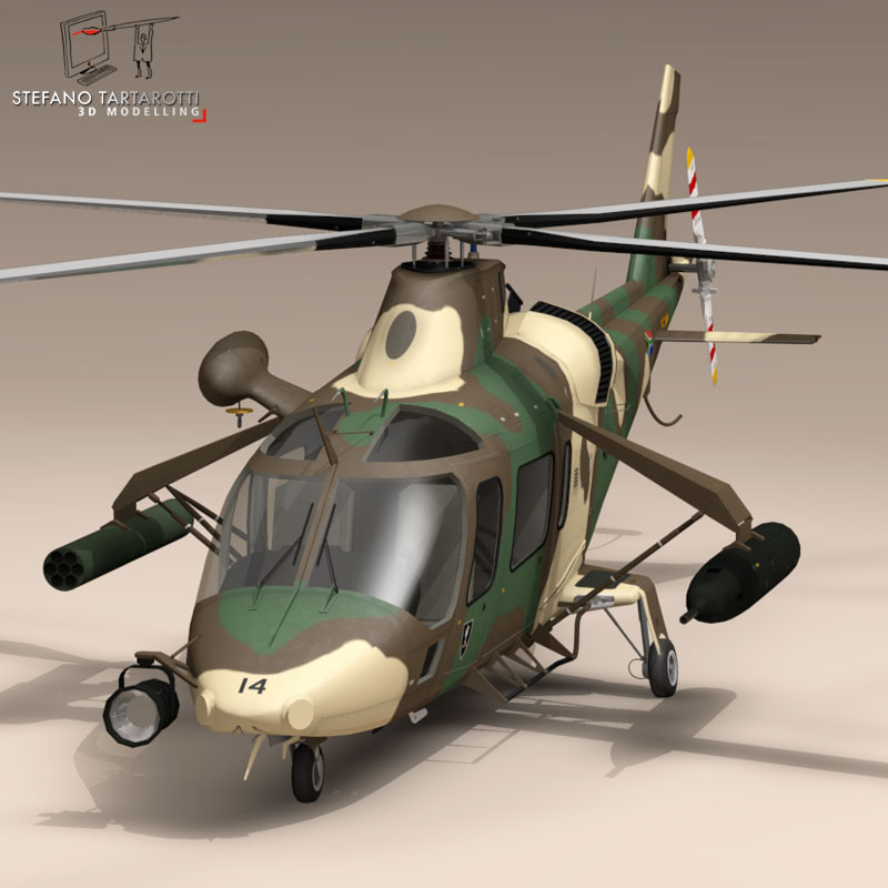 aw109luh south africa 3d model 3ds dxf fbx c4d dae obj 153390