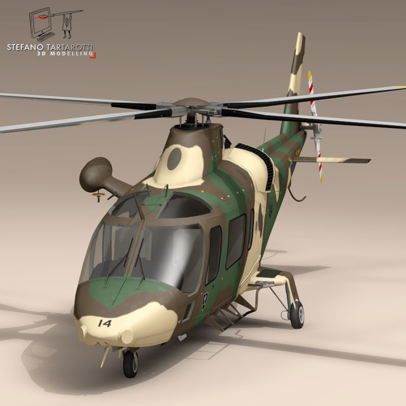 aw109luh south africa 3d model 3ds dxf fbx c4d dae obj 153391