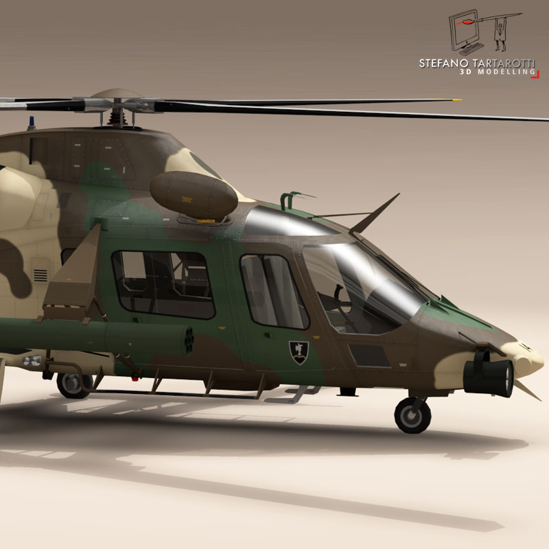 aw109luh south africa 3d model 3ds dxf fbx c4d dae obj 153392