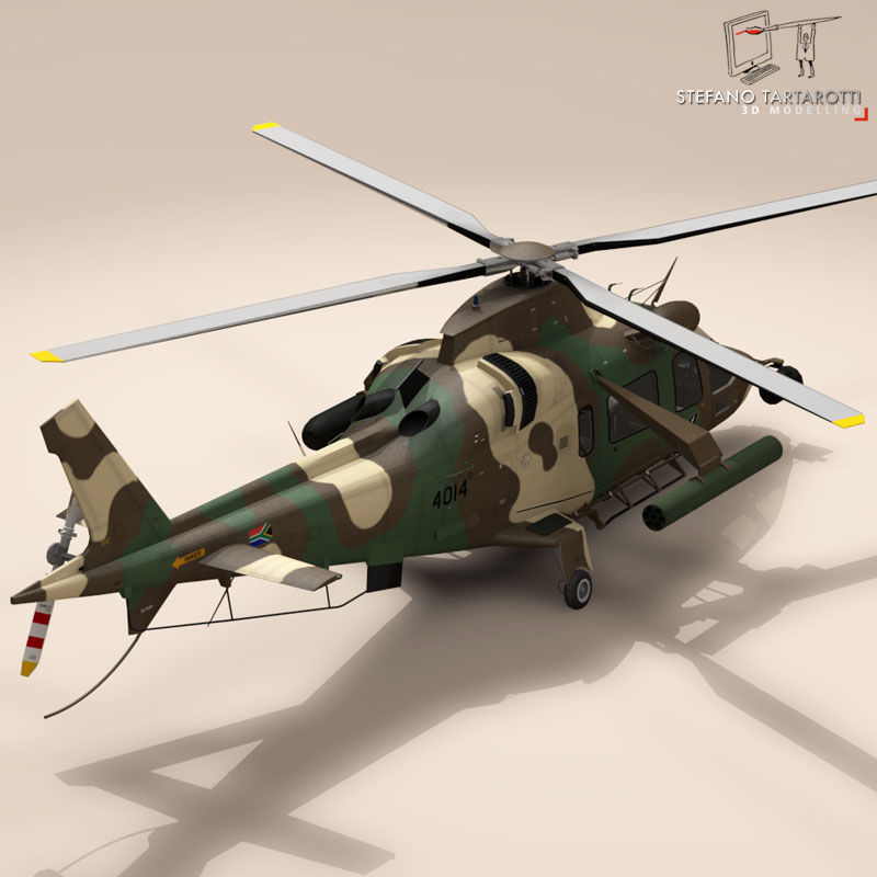 aw109luh south africa 3d model 3ds dxf fbx c4d dae obj 153393