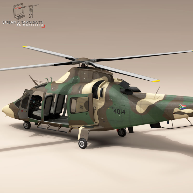 aw109luh south africa 3d model 3ds dxf fbx c4d dae obj 153394