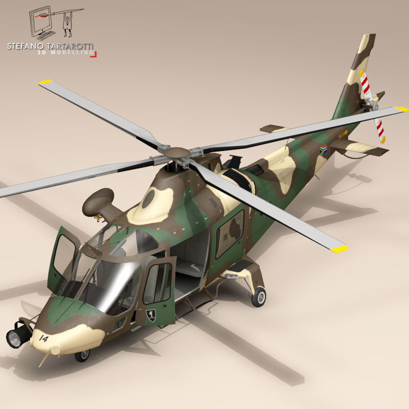 aw109luh south africa 3d model 3ds dxf fbx c4d dae obj 153395
