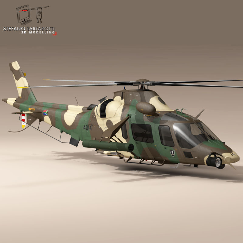 aw109luh south africa 3d model 3ds dxf fbx c4d dae obj 153396
