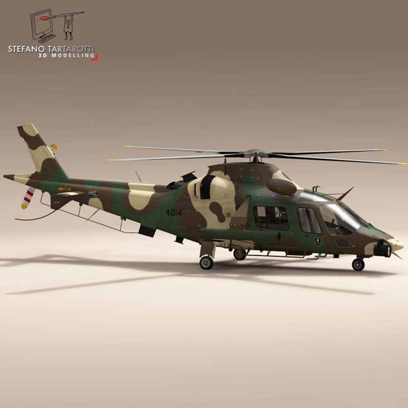 aw109luh south africa 3d model 3ds dxf fbx c4d dae obj 153397