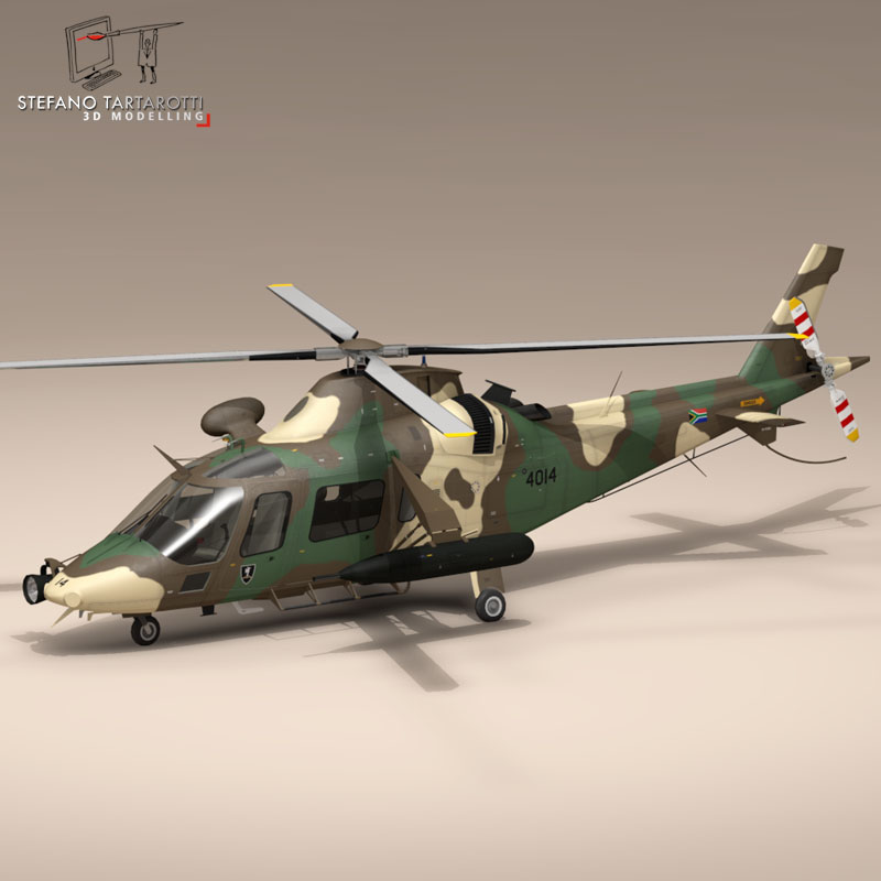 aw109luh south africa 3d model 3ds dxf fbx c4d dae obj 153398