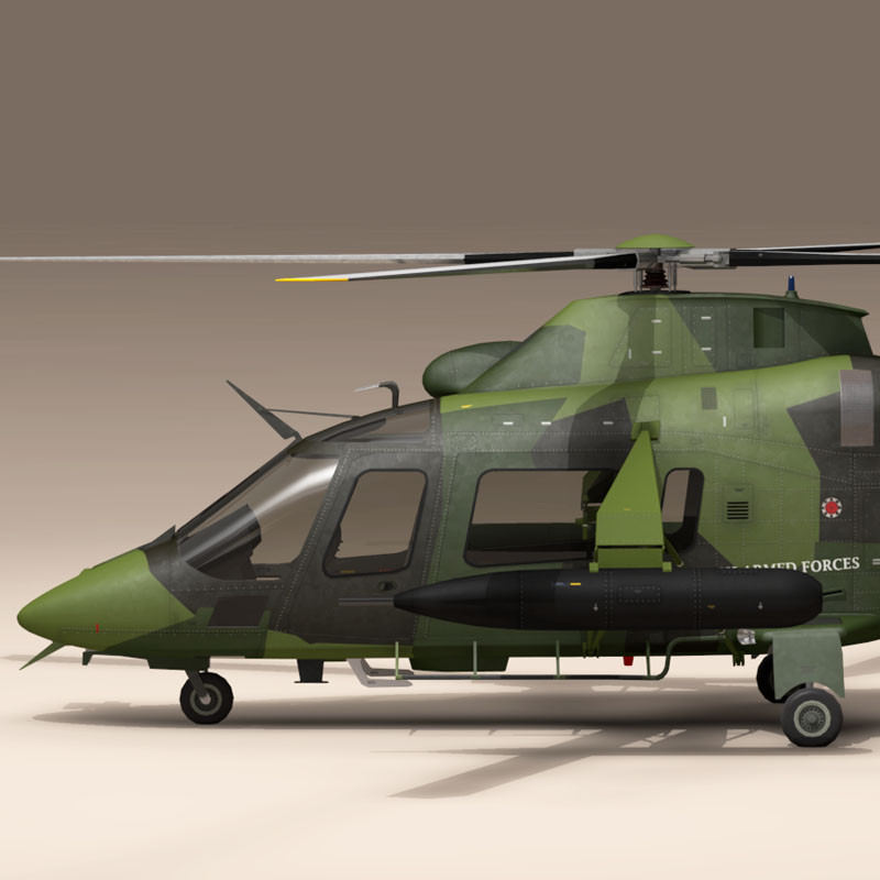 aw109luh swedish air force 3d model 3ds dxf fbx c4d dae obj 153373