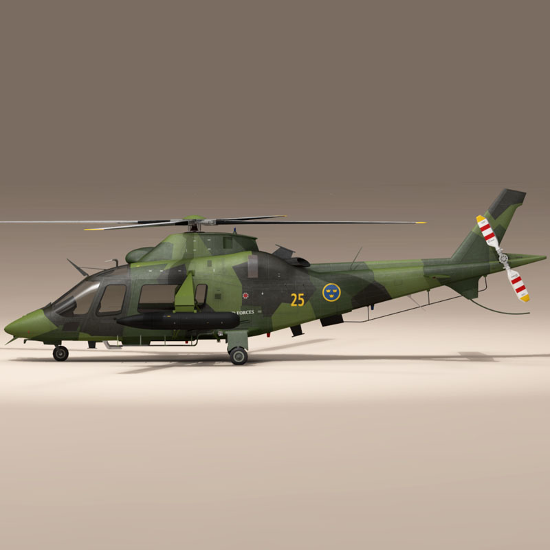 aw109luh swedish air force 3d model 3ds dxf fbx c4d dae obj 153375