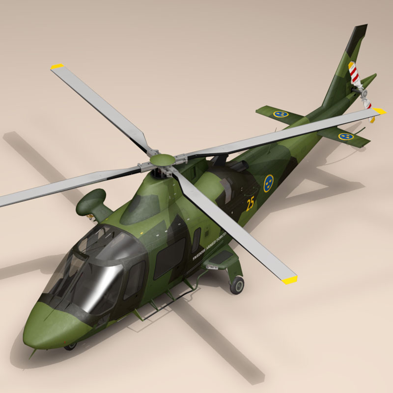 aw109luh swedish air force 3d model 3ds dxf fbx c4d dae obj 153376