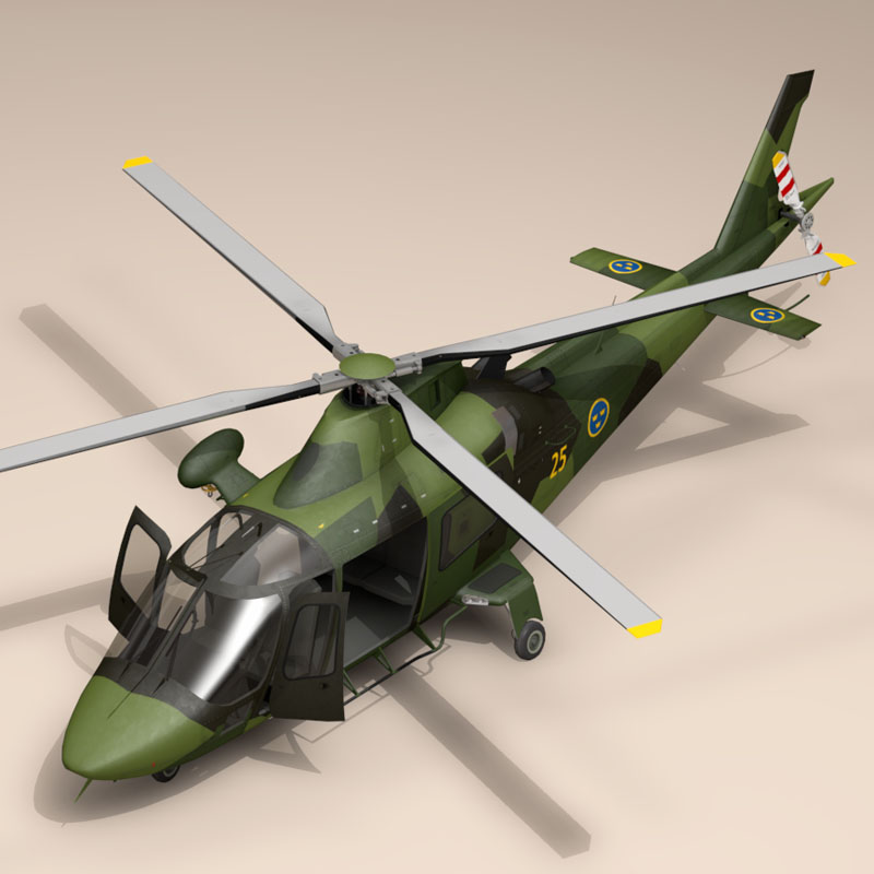 aw109luh swedish air force 3d model 3ds dxf fbx c4d dae obj 153377