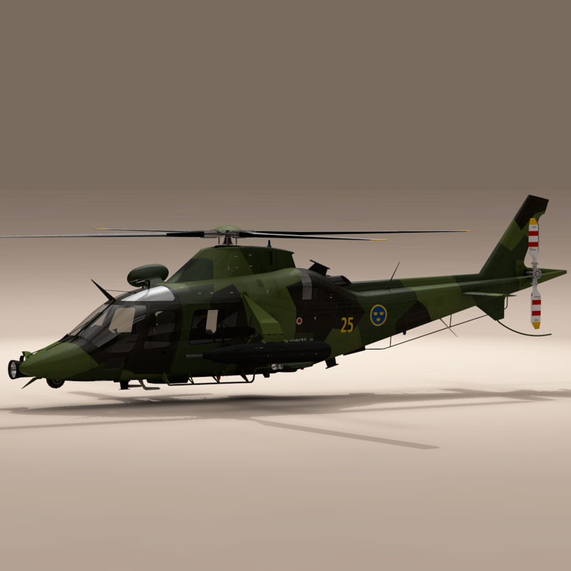 aw109luh swedish air force 3d model 3ds dxf fbx c4d dae obj 153380