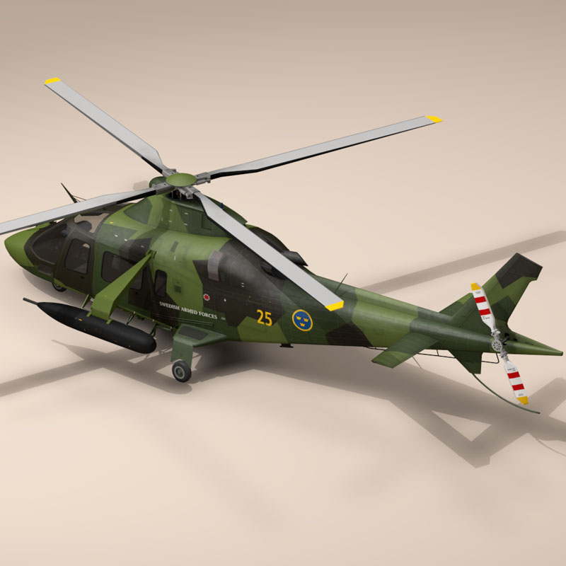 aw109luh swedish air force 3d model 3ds dxf fbx c4d dae obj 153382