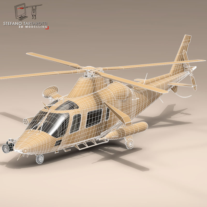 aw109luh swedish air force 3d model 3ds dxf fbx c4d dae obj 153383