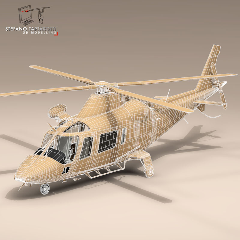 aw109luh swedish air force 3d model 3ds dxf fbx c4d dae obj 153384