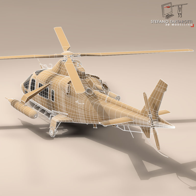 aw109luh swedish air force 3d model 3ds dxf fbx c4d dae obj 153385