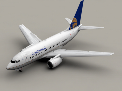 boeing 737-600 continental airlines 3d model 3ds  lwo obj 113985