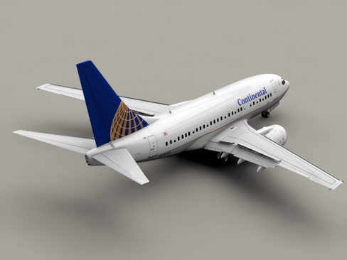 boeing 737-600 continental airlines 3d model 3ds  lwo obj 113986