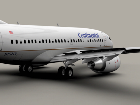 boeing 737-600 continental airlines 3d model 3ds  lwo obj 113987