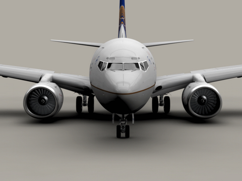 boeing 737-600 continental airlines 3d model 3ds  lwo obj 113988