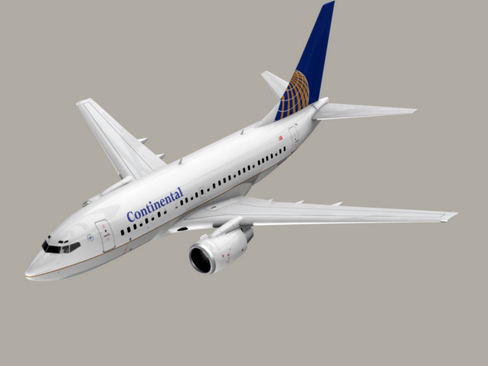 boeing 737-600 continental airlines 3d model 3ds  lwo obj 113991