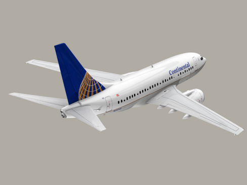 boeing 737-600 continental airlines 3d model 3ds  lwo obj 113992