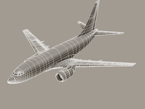 boeing 737-600 continental airlines 3d model 3ds  lwo obj 113999