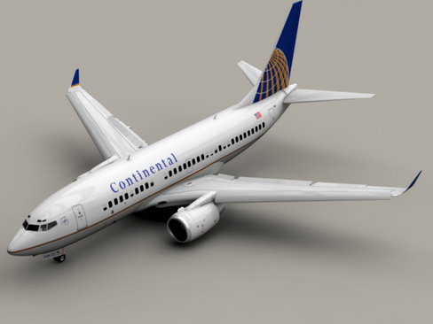 boeing 737-700 continental airlines 3d model 3ds max lwo obj 114001
