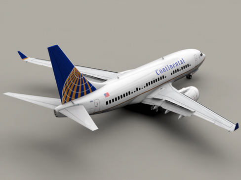 boeing 737-700 continental airlines 3d model 3ds max lwo obj 114002