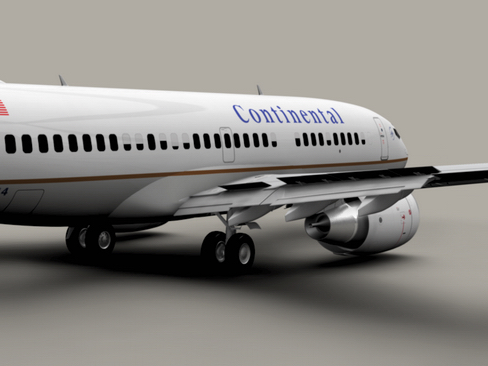 boeing 737-700 continental airlines 3d model 3ds max lwo obj 114003