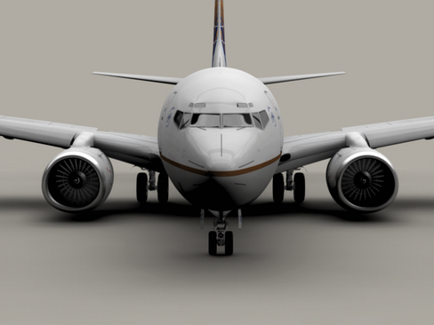 boeing 737-700 continental airlines 3d model 3ds max lwo obj 114004