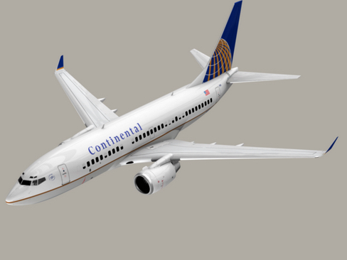 boeing 737-700 continental airlines 3d model 3ds max lwo obj 114007