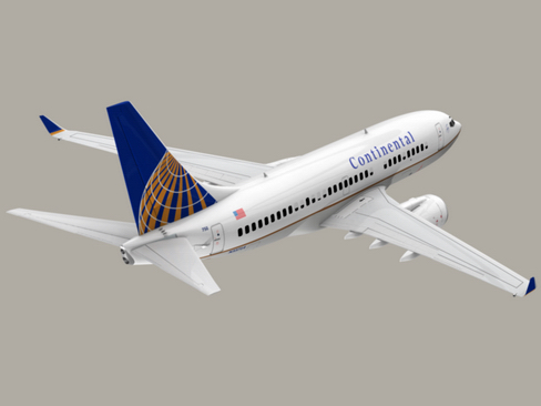 boeing 737-700 continental airlines 3d model 3ds max lwo obj 114008