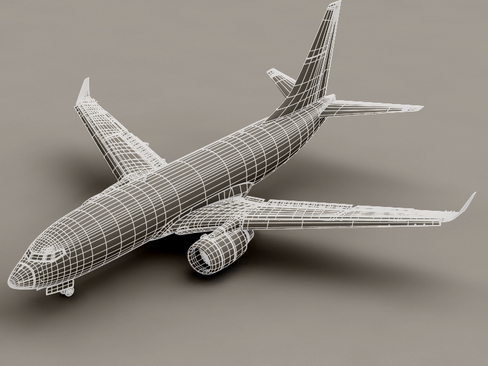 boeing 737-700 continental airlines 3d model 3ds max lwo obj 114009