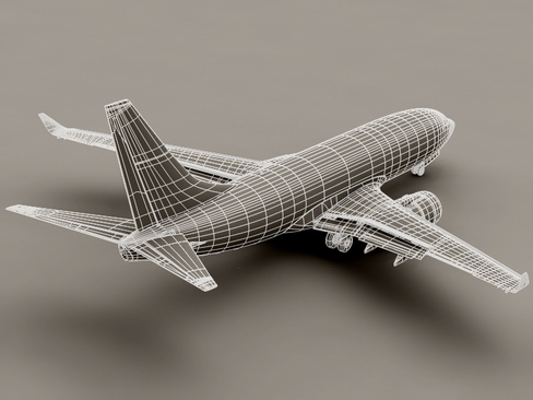 boeing 737-700 continental airlines 3d model 3ds max lwo obj 114010