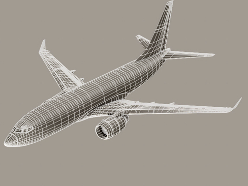 boeing 737-700 continental airlines 3d model 3ds max lwo obj 114015