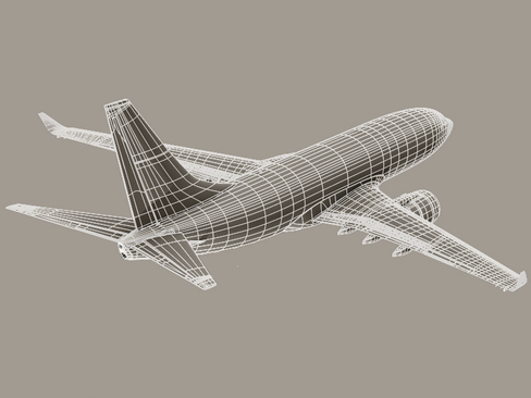 boeing 737-700 continental airlines 3d model 3ds max lwo obj 114016