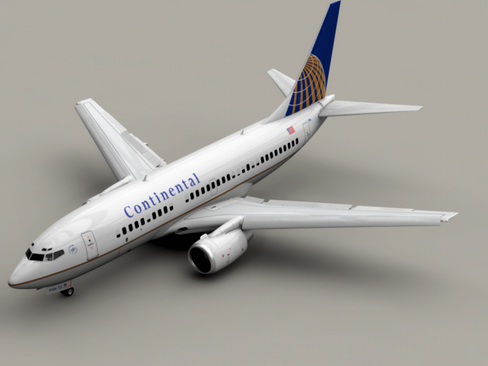 boeing 737-700 continental airlines 3d model 3ds max lwo obj 114017