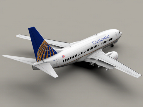 boeing 737-700 continental airlines 3d model 3ds max lwo obj 114018