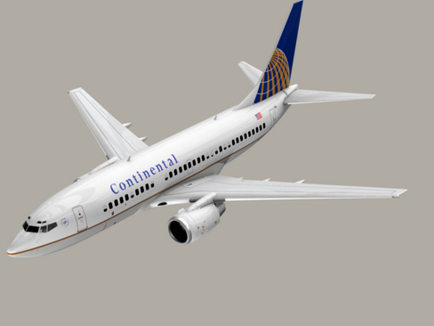 boeing 737-700 continental airlines 3d model 3ds max lwo obj 114019