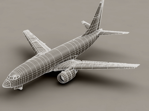 boeing 737-700 continental airlines 3d model 3ds max lwo obj 114021