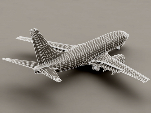 boeing 737-700 continental airlines 3d model 3ds max lwo obj 114022
