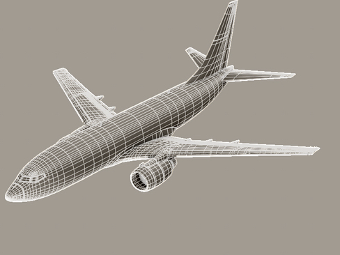 boeing 737-700 continental airlines 3d model 3ds max lwo obj 114023