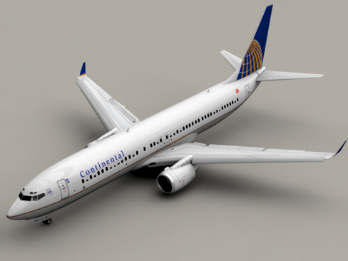 boeing 737-900 continental airlines 3d model 3ds max lwo obj 114049