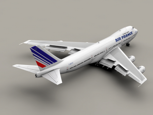 boeing 747-200 air francuska 3d model 3ds max lwo obj 113970